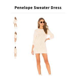 Tularosa White Sweater Dress